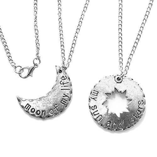 "Ketten Schmuckset ""Moon Of My & Life Sun And Stars"""